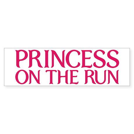 Princess on the run Sticker (Bumper)