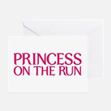 Princess on the run Greeting Card
