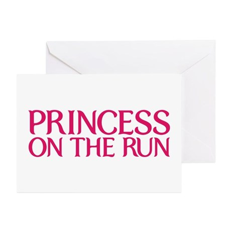 Princess on the run Greeting Cards (Pk of 10)