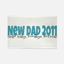 New Dad 2011 Rectangle Magnet
