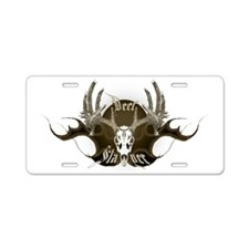 Deer Slayer Aluminum License Plate