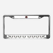 European Skull mounts License Plate Frame