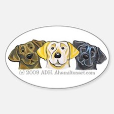 Labs 3 Colors Sticker (Oval)