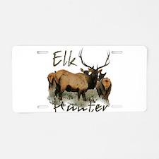 Elk Hunter Aluminum License Plate
