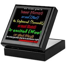 Cute Interjection Keepsake Box