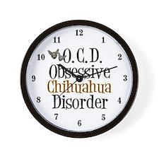 Obsessive Chihuahua Disorder Wall Clock