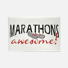 Marathons awesome! Rectangle Magnet