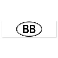 Barbados (BB) euro Bumper Bumper Sticker