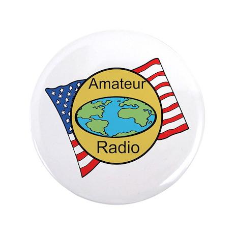 """Amateur Radio 3.5"""" Button (100 pack)"""