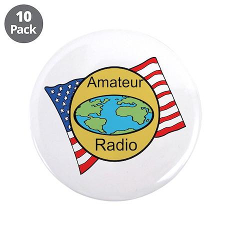 """Amateur Radio 3.5"""" Button (10 pack)"""