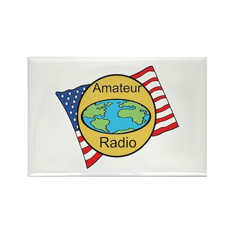 Amateur Radio Rectangle Magnet (100 pack)