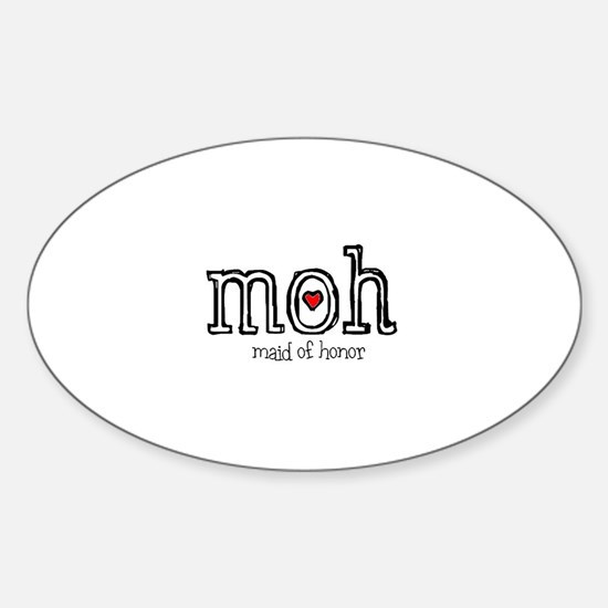 Cute Matron of honor Sticker (Oval)