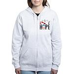 Anti Obama 2012 Women's Zip Hoodie