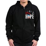 Anti Obama 2012 Zip Hoodie (dark)
