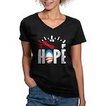 Anti Obama 2012 Women's V-Neck Dark T-Shirt