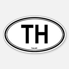 Thailand (TH) euro Oval Decal