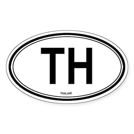 Thailand (TH) euro Oval Sticker