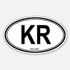 South Korea (KR) euro Oval Decal