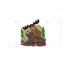 Moose humor Aluminum License Plate