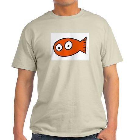 Tickles Goldfish Ash Grey T-Shirt
