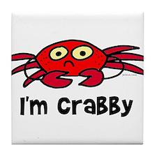 I'm crabby Tile Coaster