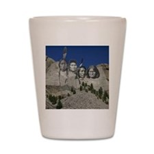 Native Mt. Rushmore Shot Glass