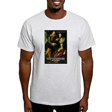 Rubens Self Portrait & Quote Ash Grey T-Shirt