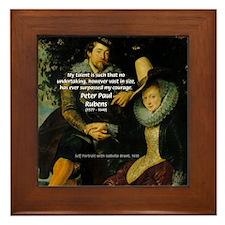 Rubens Self Portrait & Quote Framed Tile