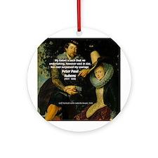 Rubens Self Portrait & Quote Ornament (Round)