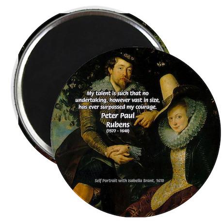 Rubens Self Portrait & Quote Magnet
