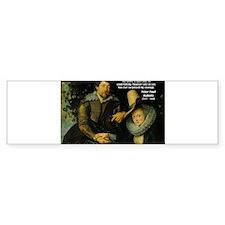 Rubens Self Portrait & Quote Bumper Bumper Sticker