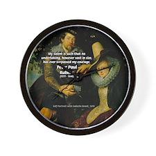 Rubens Self Portrait & Quote Wall Clock