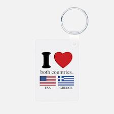 USA-GREECE Keychains