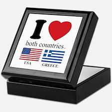 USA-GREECE Keepsake Box
