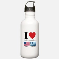 USA-GREECE Water Bottle