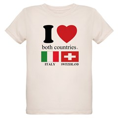ITALY-SWITZERLAND Organic Kids T-Shirt
