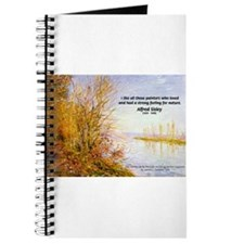 Alfred Sisley Nature Quote Journal