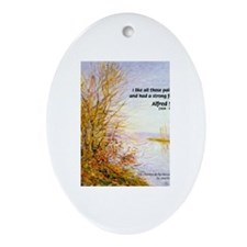 Alfred Sisley Nature Quote Oval Ornament