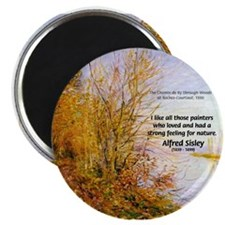 Alfred Sisley Nature Quote Magnet