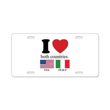 USA-ITALY Aluminum License Plate
