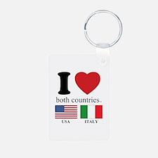 USA-ITALY Keychains