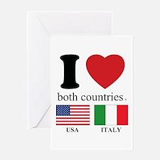 USA-ITALY Greeting Card