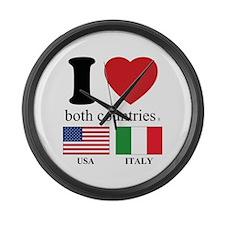 USA-ITALY Large Wall Clock