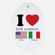 USA-ITALY Ornament (Oval)