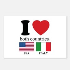 USA-ITALY Postcards (Package of 8)