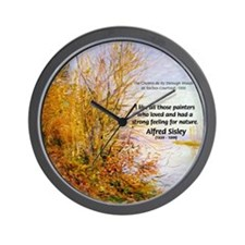 Alfred Sisley Nature Quote Wall Clock