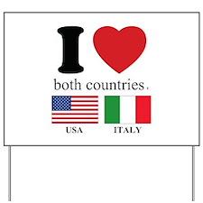 USA-ITALY Yard Sign