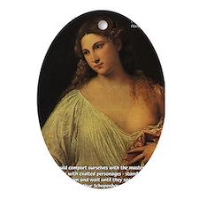Titian Renaissance Master Oval Ornament