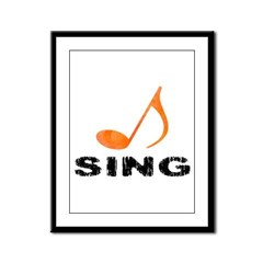 Sing Note Framed Panel Print