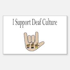 I support Deaf culture Sticker (Rectangle)